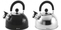 Outwell TEA BREAK KETTLE 1.8LTR- Stainless-steel & Black, Camping Equipment - Grasshopper Leisure